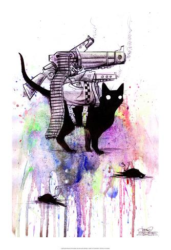 Super Cat Kunstdruck