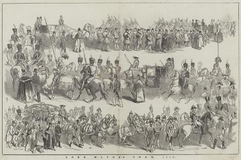 Lord Mayor's Show, 1845 Giclée-Druck