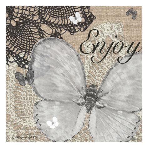 Butterfly Enjoy Kunstdruck