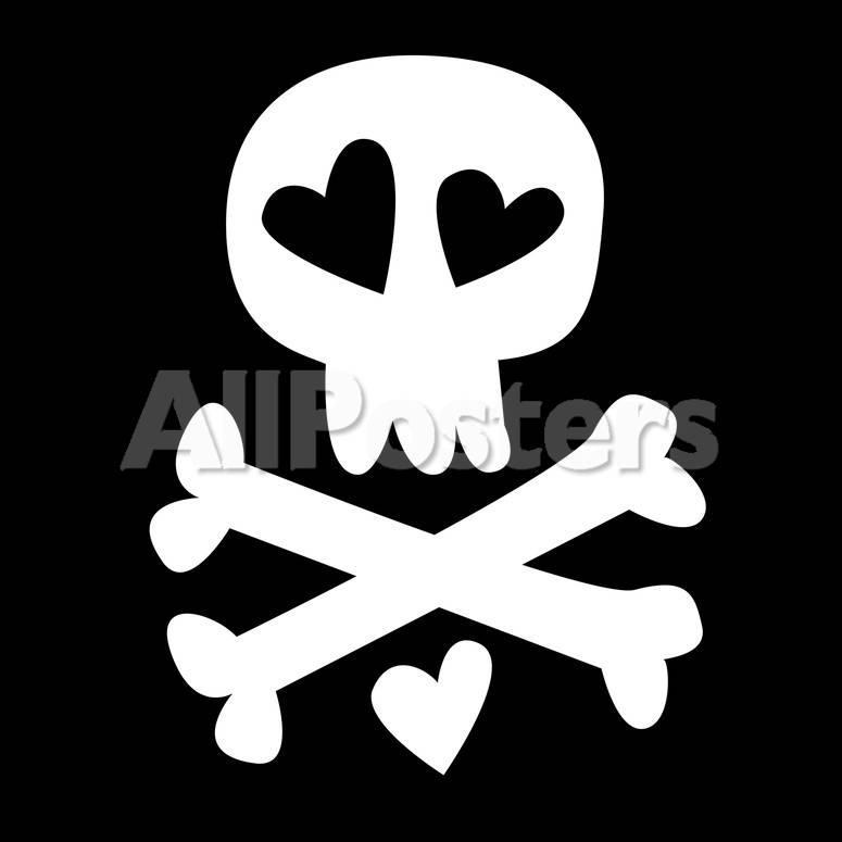 Love Skull And Crossbones Gicledruk Bij Allposters