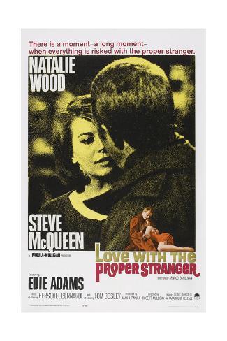 Love with the Proper Stranger, from Left: Natalie Wood, Steve Mcqueen, 1963 Kunstdruck