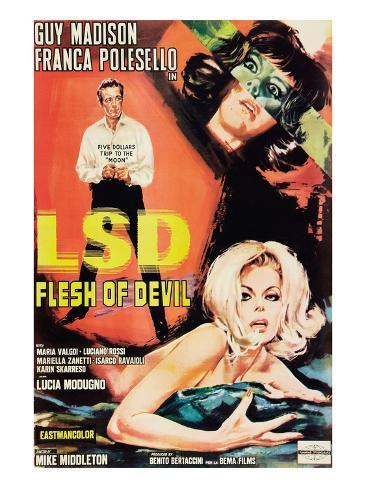 LSD: Flesh of the Devil Kunstdruck