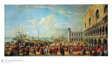 In Front of the Doge Palace in Venice Sammlerdrucke