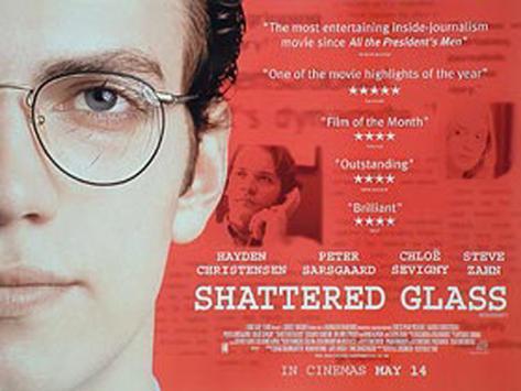 Lüge und Wahrheit– Shattered Glass Originalposter