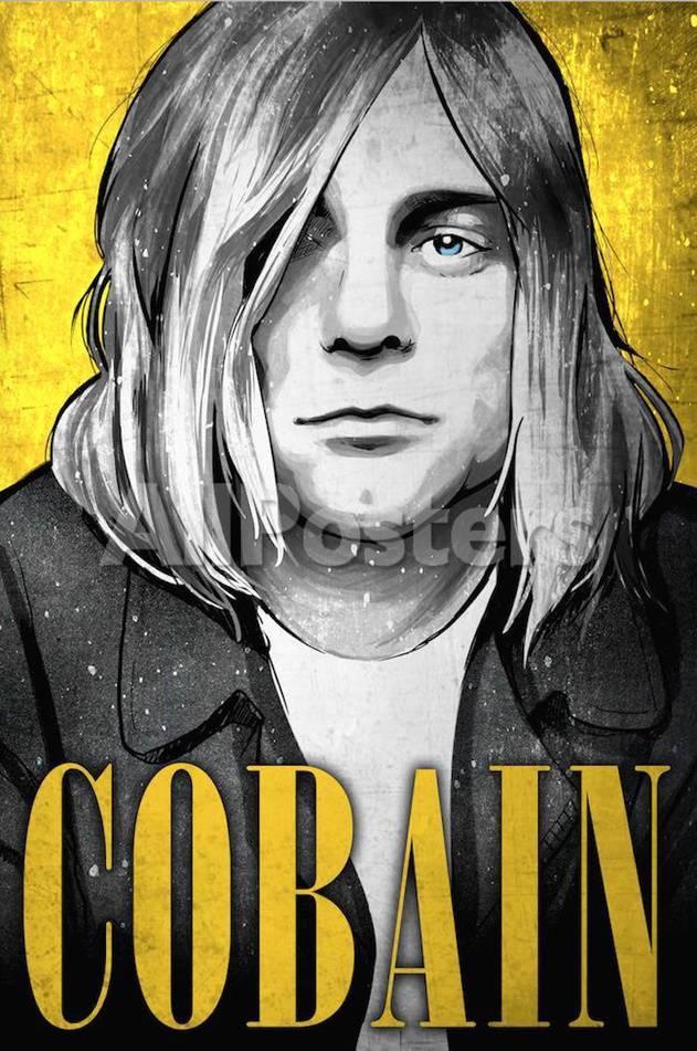 Kurt Cobain Nirvana Illustration Poster von Lynx Art Collection bei ...