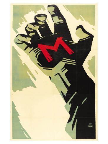 M, German Movie Poster, 1931 Kunstdruck