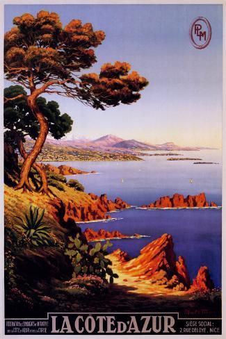 Die Cote d'Azur Poster