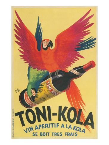 Macaws with Bottle of Kola Liqueur Kunstdruck
