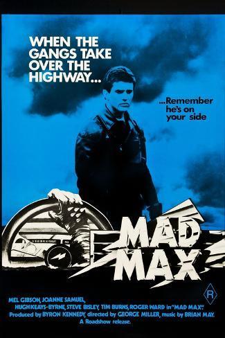 Mad Max, Mel Gibson on Australian poster art, 1979 Kunstdruk