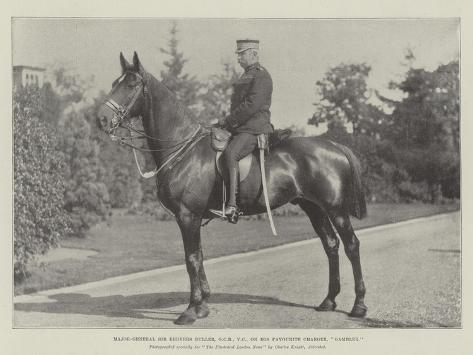 Major-General Sir Redvers Buller, Gcb, Vc, on His Favourite Charger, Gambler Giclée-Druck