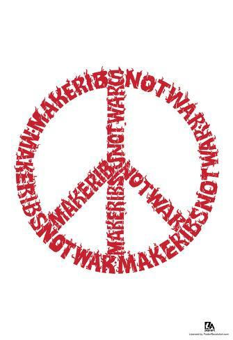 Make Ribs Not War Text Poster Foto Bij Allposters
