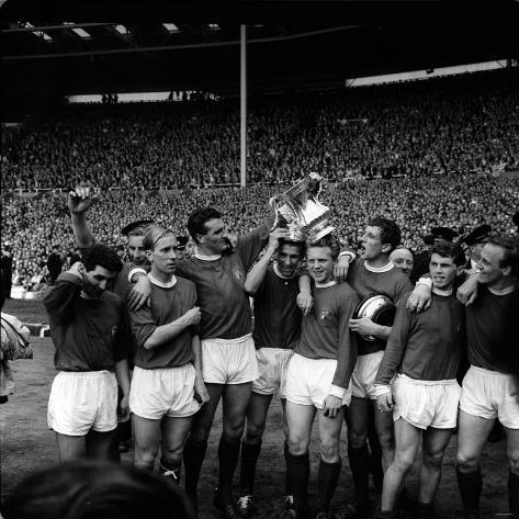 Manchester United Team Celebrate FA Cup Final Win Fotografie-Druck