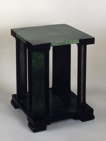 Square Art Deco Style Coffee Table Giclée-Druck