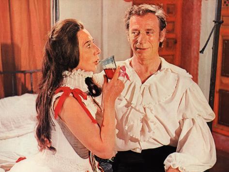Alice Sapritch and Yves Montand: La Folie Des Grandeurs, 1971 Fotografie-Druck