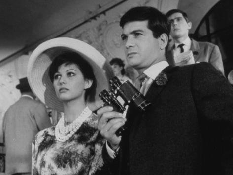Claudia Cardinale and Jean-Claude Brialy: Les Lions Sont Lâchés, 1961 Fotoprint