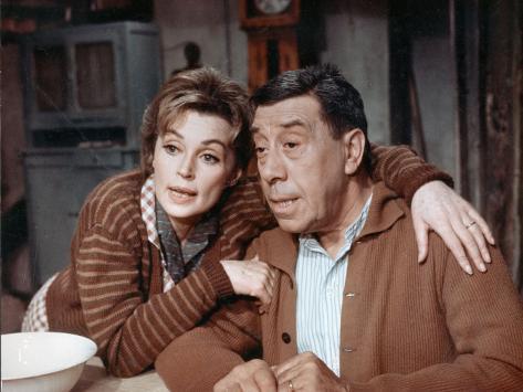Fernandel and Lilli Palmer: Le Voyage Du Père, 1966 Fotografie-Druck