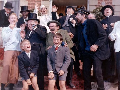 Georges Wilson, Georges Loriot, Jean-Pierre Talbot and Jean Bouise: Tintin et Les Oranges Bleues, 1 Fotografie-Druck