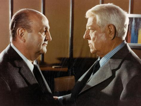 Jean Gabin and Bernard Blier: Le Tueur, 1972 Fotografie-Druck