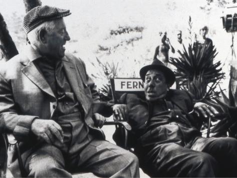 Jean Gabin and Fernandelshooting Picture: L'Âge Ingrat, 1964 Fotoprint