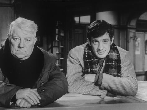 Jean Gabin and Jean-Paul Belmondo: Un Singe En Hiver, 1962 Fotografie-Druck