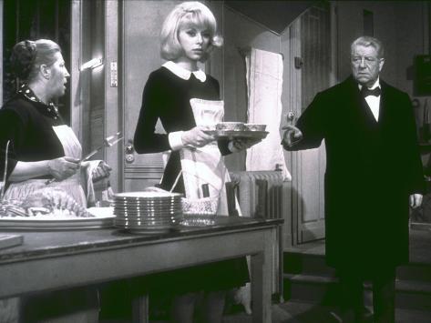 Jean Gabin and Mireille Darc: Monsieur, 1964 Fotoprint