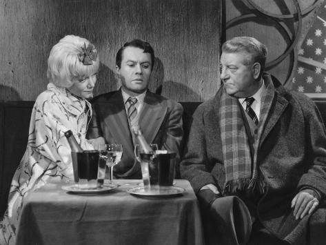 Jean Gabin and Robert Hirsch: Maigret et L'Affaire Saint Fiacre, 1959 Fotografie-Druck