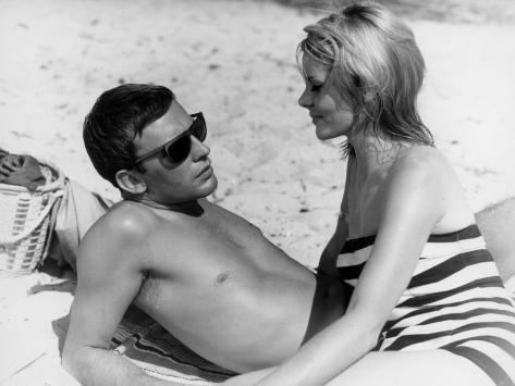 Jean-Louis Trintignant and Françoise Brion: Le Coeur Battant, 1960 Fotografie-Druck