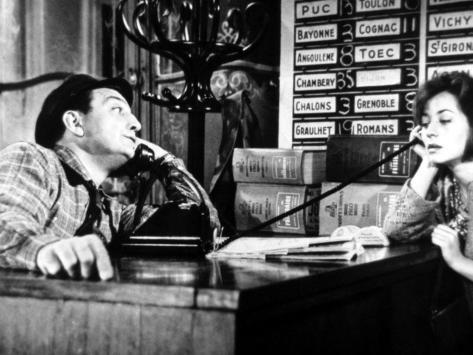 Lino Ventura and Annie Girardot: Le Bateau D'Emile, 1962 Fotoprint