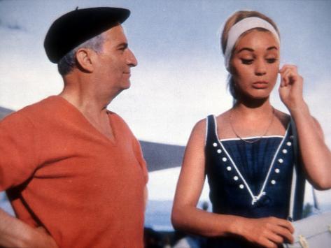 Louis de Funès and Geneviève Grad: Le Gendarme de Saint-Tropez, 1964 Fotografie-Druck