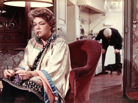 Simone Signoret and Jean Gabin: Le Chat, 1971 Fotografie-Druck