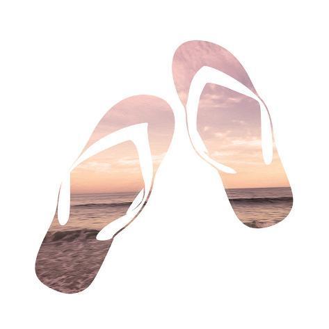 Sandy Sandals Kunstdruck