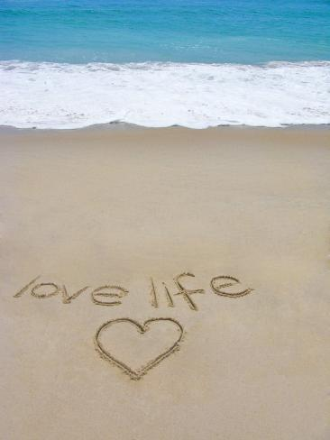 Beach On Fire Island Ny With The Words Love Life Written In The