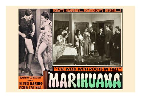 Marihuana: the Weed with Roots in Hell Kunstdruck
