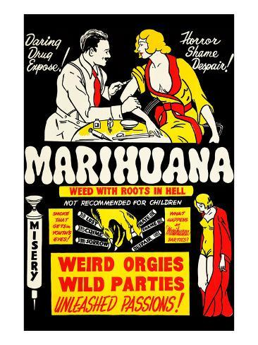 Marihuana: Weed with Roots in Hell Kunstdruck