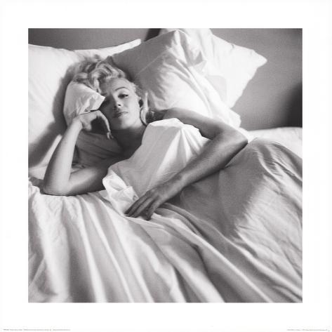 Marilyn Monroe: Bed Kunstdruck