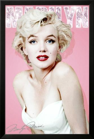 Marilyn Monroe-Diamond Laminiertes gerahmtes Poster