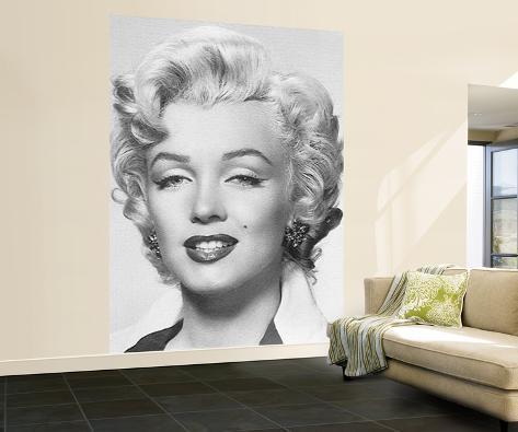 marilyn monroe portrait fototapete wandgem lde bei. Black Bedroom Furniture Sets. Home Design Ideas