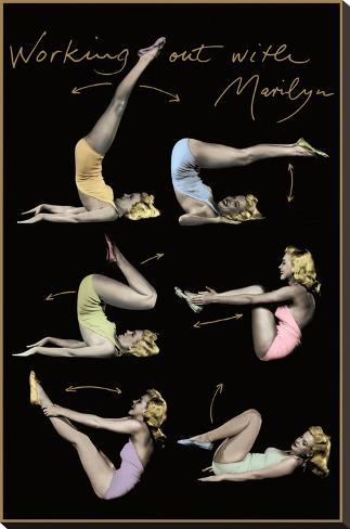 Marilyn Monroe (Working Out) Movie Poster Print Bedruckte aufgespannte Leinwand