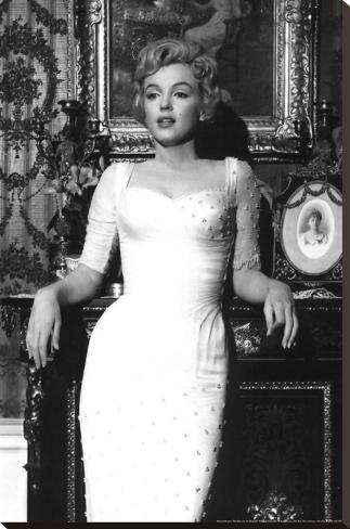Marilyn Monroe Bedruckte aufgespannte Leinwand