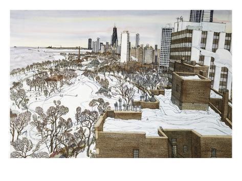 Chicago's Lincoln Park Giclée-Druck