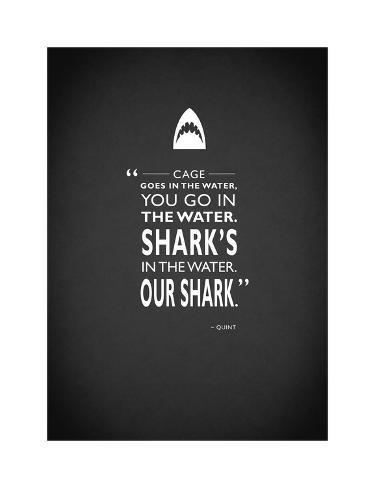 Der weiße Hai, Englisch Giclée-Druck