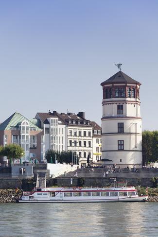 Schlossturm tower at the rheinpromenade dusseldorf north rhine westphalia germany europe - Dusseldorf wandtattoo ...