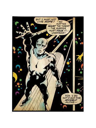 Marvel Comics Retro: Silver Surfer Comic Panel (aged) Sonstiges