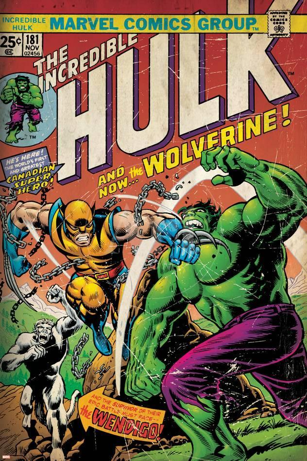 Marvel Comics Retro: The Incredible Hulk Comic Book Cover No.181 ...