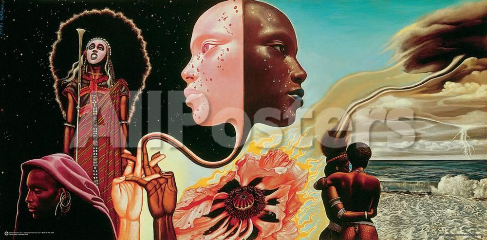 Miles Davis- Bitches Brew Album Art Kunstdrucke von Mati Klarwein ...
