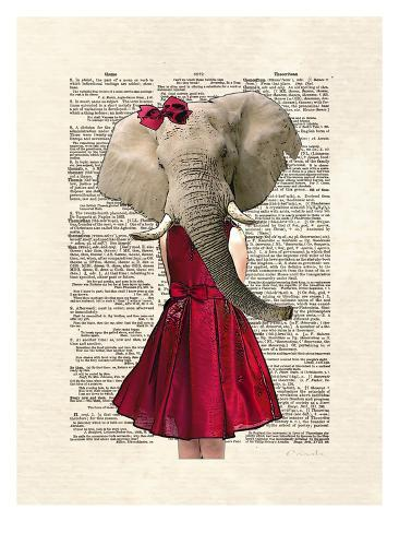 Elephant Girl Kunstdruck