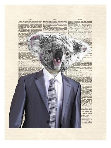 Koala Suit Kunstdruck