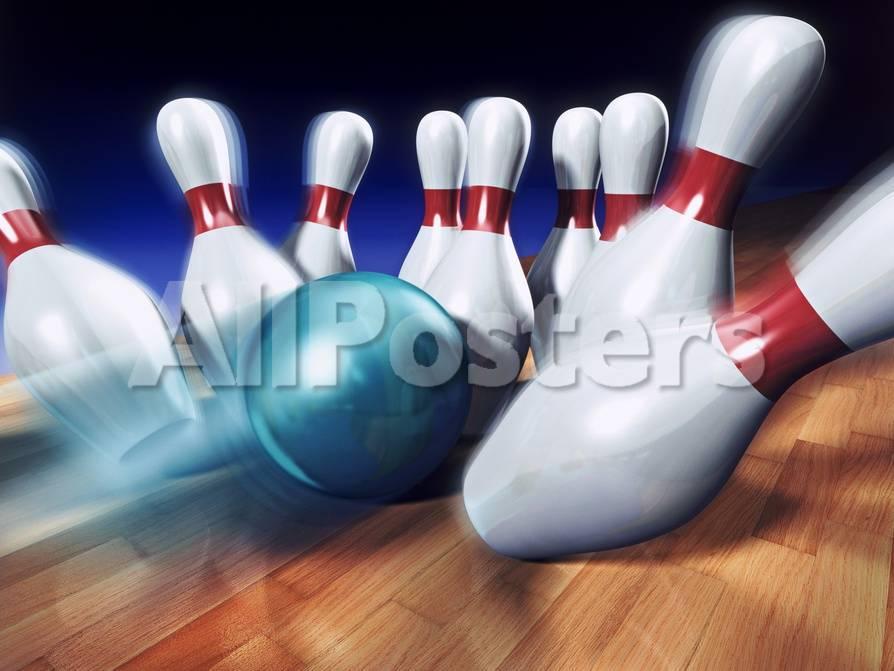 A Bowling Strike Giclée-Druck von Matthias Kulka bei AllPosters.de