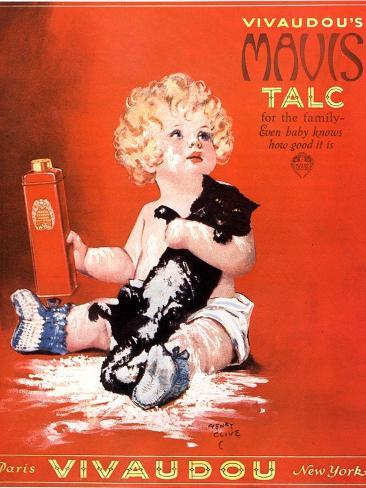 Mavis Talc Cats Talcum Powder, USA, 1920 Giclée-Druck