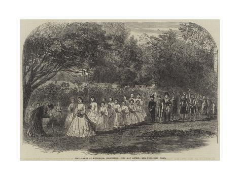 May Games at Wymering, Hampshire, the May Queen Giclée-Druck